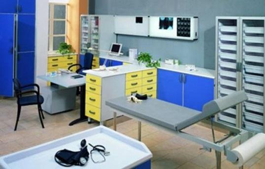 Оснащение различных медицинские кабинетов в больнице