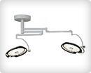 Двухкупольный операционный светильник - потолочный DUO X2