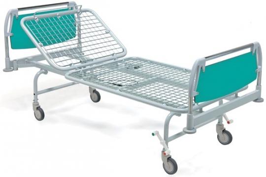 Медицинская механическая двухсекционная кровать на колесах 11-CP129