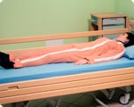 Ночная пижама медицинская застежки-молнии спереди