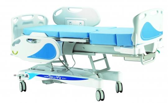 Акушерская кровать для родовспоможения с электрическим изменением высоты из нержавеющей стали 19-PO905/I
