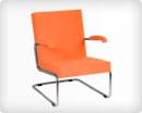 Кресло с подставкой для ног в зал ожидания V006BAB