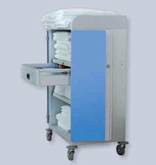Медицинские тележки на колесах для транспортировки чистого белья