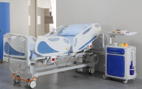 Электрическая медицинская четырехсекционная кровать для интенсивной терапии с регулируемой высотой ложа 11-CP219 Вариант 2