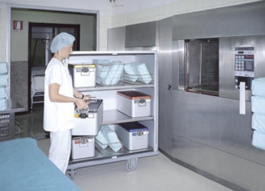 Шкафы - тележки для отделения стерилизации - код 1625 CR