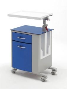 Тумбочка медицинская двухсторонняя со столиком 14-CT263 Plaster