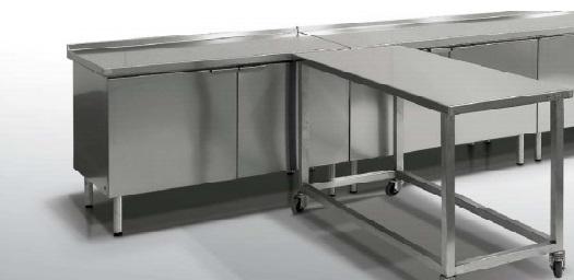 Медицинские рабочие столы из нержавеющей стали
