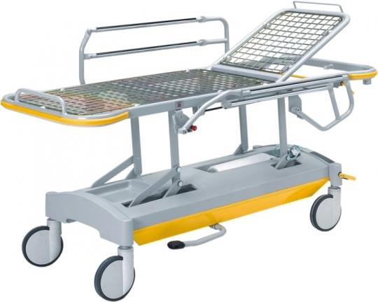 Каталка-тележка для перевозки больных с повышенным весом и регулируемой высотой 20-FP647