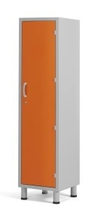 Медицинский шкаф для одежды с одним отделением и дверцей из многослойного пластикового ламината 13-СP201