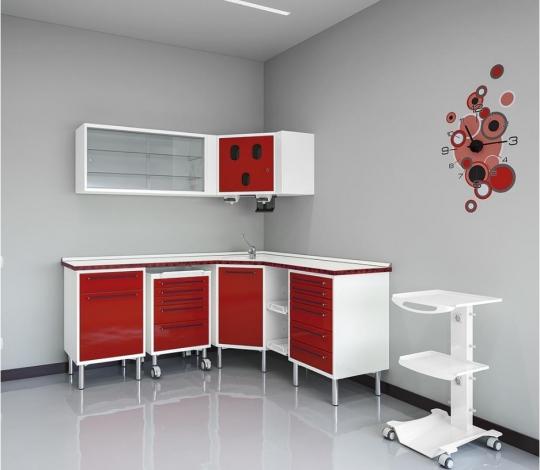 Лабораторный угловой набор медицинской мебели NEO-POP