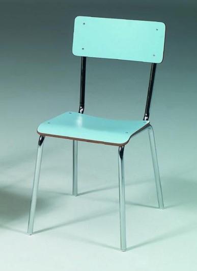 Медицинский палатный хромированный стул без подлокотников 17-FP320