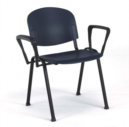 Медицинский фиксированный стул из полипропилена с подлокотниками 17-PT301