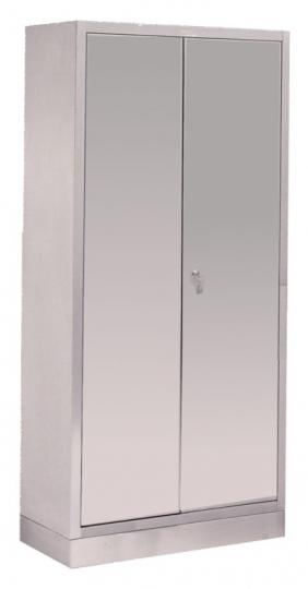 Медицинский шкаф для суден из нержавеющей стали (2 распашные двери и 3 полки (на 30 суден))