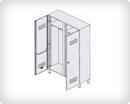 Шкаф-раздевалка из окрашенной стали 2-местная