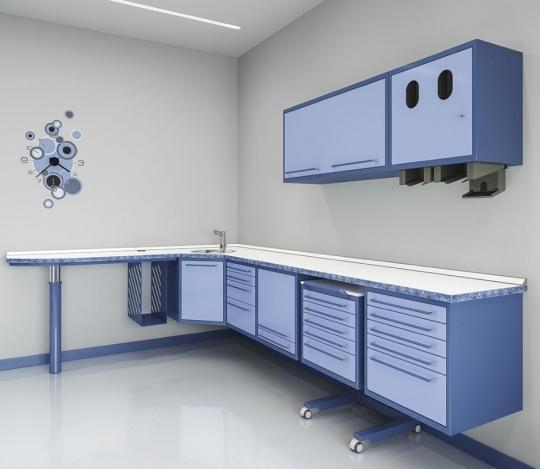 Стоматологическая угловая модульная мебель