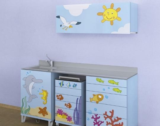 Модульный комплект детской стоматологической мебели