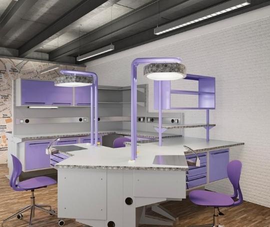 Мебель модульная для зуботехнической лаборатории