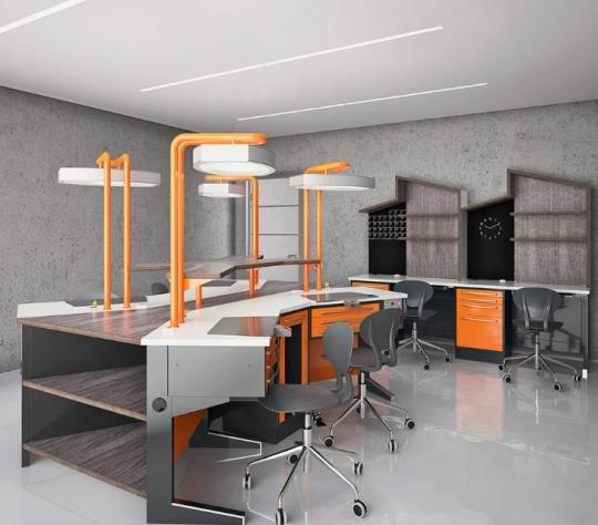 Боковой модуль зуботехнической мебели