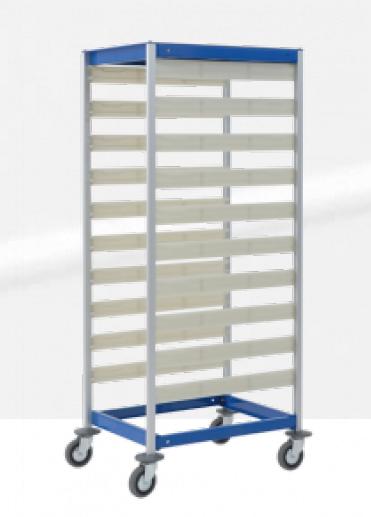 Стеллаж-шкаф для медикаментов на колесах код 3430 QR