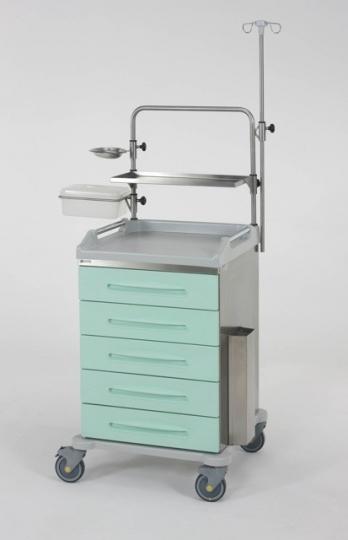 Медицинская тележка с 5 ящиками из технополимеров 16-FT610