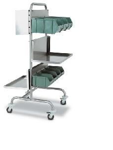 Тележка медицинская мобильная реанимационная из нержавеющей стали 16-SO300