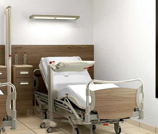 Двухсекционные медицинские кровати