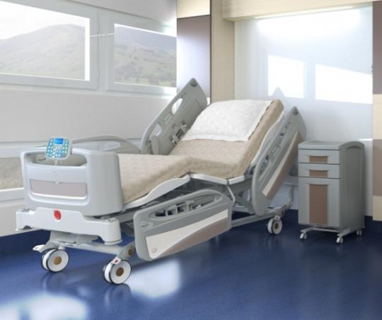 Четырехсекционные медицинские кровати