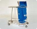 Тележка медицинская для грязного белья с двойной подставкой - модель 3510