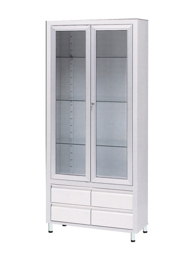Медицинский шкаф для медикаментов и инструментов из окрашенной стали 13-FP242