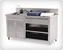 Металлический медицинский пеленальный стол для мытья младенцев