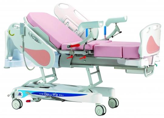 Акушерская кровать для родовспоможения гидравлическая из нержавеющей стали 19-PO900 (Вариант 2)