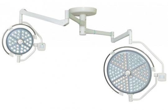 Хирургический медицинский потолочный двухблочный светильник Паналед 120/160