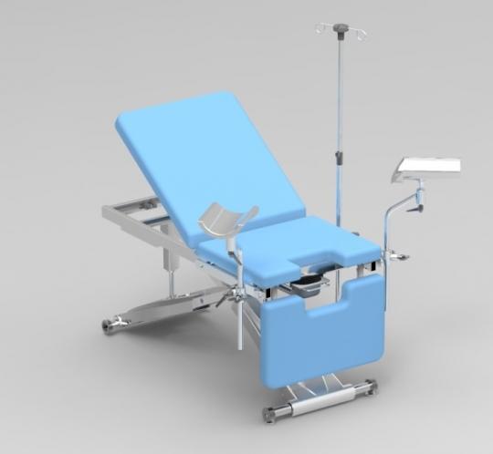 Гинекологическое кресло с изменяемой высотой (гидравлика)