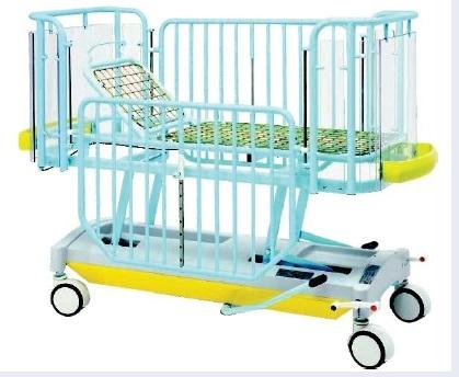 Детская медицинская двухсекционная кровать с изменяемой высотой ложа (гидравлика) 19-FP646