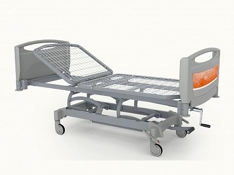 Медицинская функциональная двухсекционная кровать с изменяемой высотой (гидравлический привод) Theorema OA0135