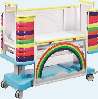 Медицинская детская двухсекционная кровать