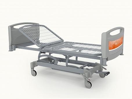 Медицинская функциональная двухсекционная кровать с изменяемой высотой (гидравлический привод) THEOREMA OA0136