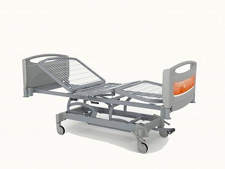 Медицинская функциональная четырехсекционная кровать с изменяемой высотой (гидравлический привод) с регулировкой тренделенбург THEOREMA OA0336