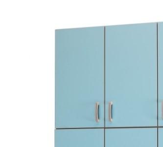 Медицинский палатный шкаф-антресоль с 2 отделением из биламината 13-FP185 (Вариант 1)
