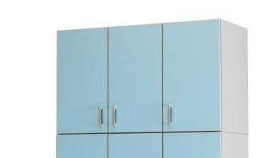 Медицинский палатный шкаф-антресоль с 3 отделением из биламината 13-FP186 (Вариант 1)