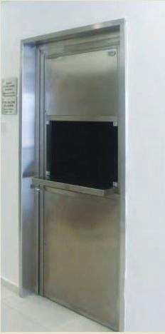 Медицинская дверь с передаточным окном MKGK 9900