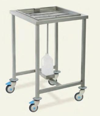 Мобильный инструментальный столик со сливом воды MSM5080