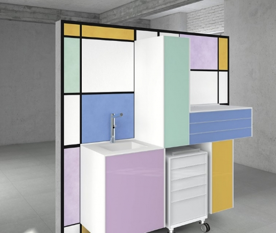 Модульная мебель для стоматологического кабинета из серии Decus