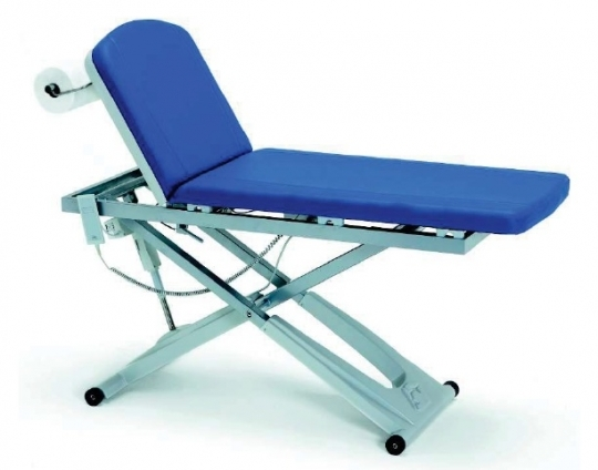 Электрическая двухсекционная смотровая медицинская кушетка для кабинетов УЗИ