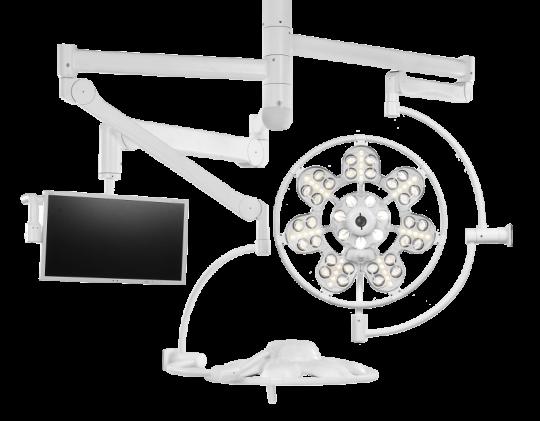 Светильник хирургический двухкупольный ЭМАЛЕД 500/500/X