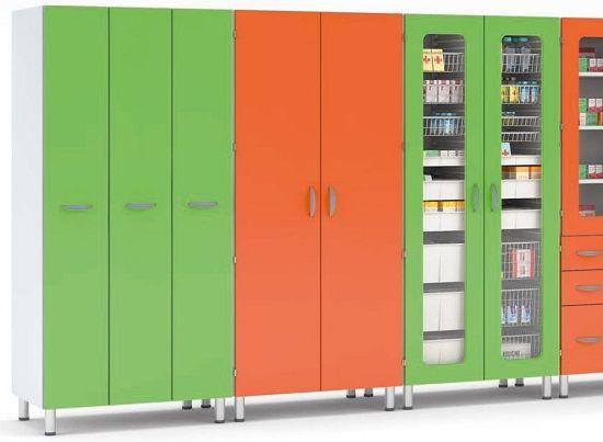 Медицинский шкаф для медикаментов под заказ