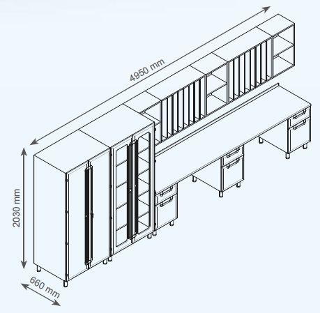 Модульный шкаф для медицинского центра
