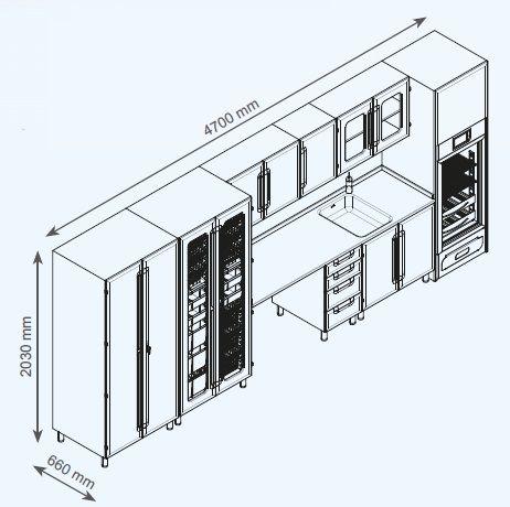 Модульный шкаф для больницы под заказ