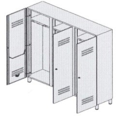 Шкафы раздевалки металлические