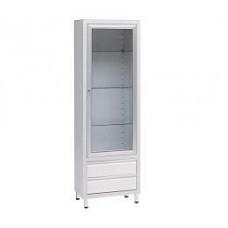 Шкаф медицинский для инструментов одностворчатый металлический 13-FP241